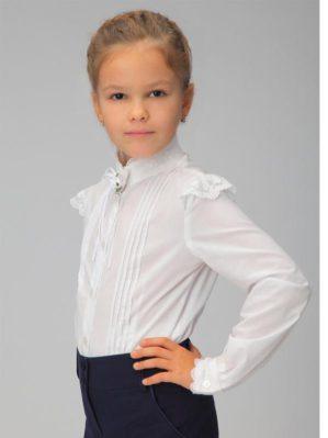Блузка школьная белая