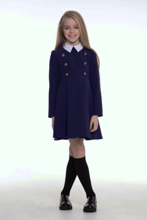 Платье школьное тёмно-синее