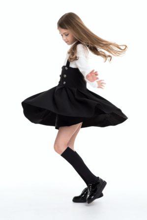 Сарафан школьный чёрный