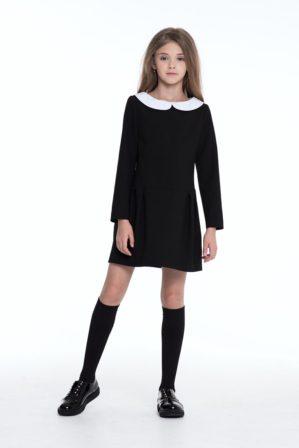 Платье школьное серое, чёрное