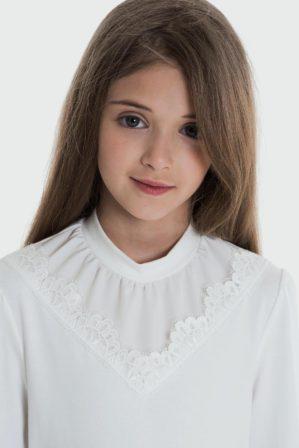 Блузка школьная трикотажная белая