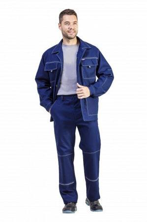 Костюм рабочий куртка+брюки 100% х/б
