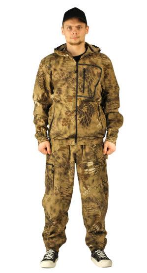 """Костюм """"Питон коричневый"""" куртка+брюки кмф, ткань сорочечная"""