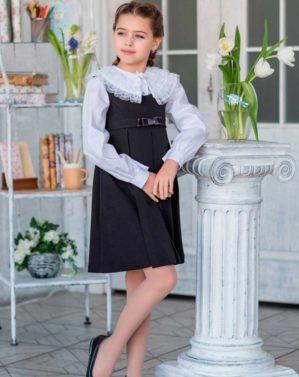 """Сарафан школьный """"Светлана"""" чёрный"""