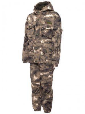 """Костюм """"Горка"""" Премиум класс, летний, кмф серые облака, армированная ткань, куртка+брюки"""