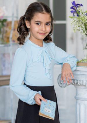 """Блузка школьная """"Вита"""" светло-бирюзовая"""