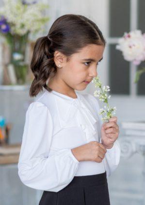 "Блузка школьная ""Вита"" экрю"