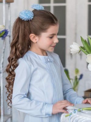 """Блузка школьная """"Лида"""" голубая"""