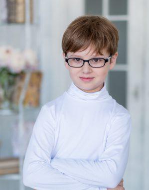 """Свитер школьный """"Алик"""" трикотажный белый"""