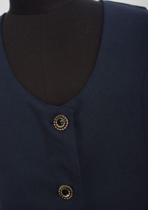 Костюм-двойка школьный синий (жилет+юбка)