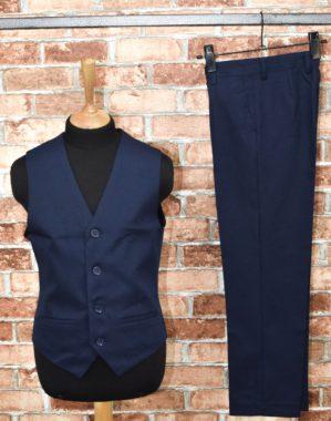 Костюм-двойка школьный синий (жилет+брюки)
