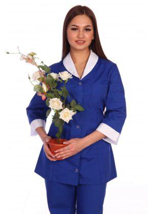 Костюм для клининга васильковый блуза+брюки