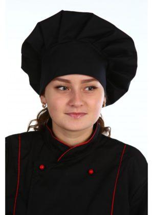Колпак повара чёрный