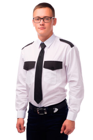 Рубашка охранника белая длинный рукав