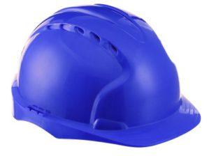 Каска защитная синяя с храповым механизмом