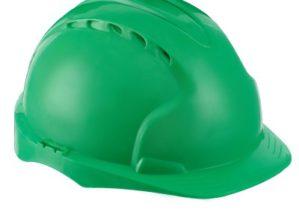 Каска защитная зелёная с храповым механизмом