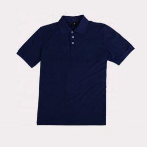 Рубашка-поло тёмно-синяя, хлопок