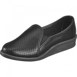 Туфли женские кожаные чёрные