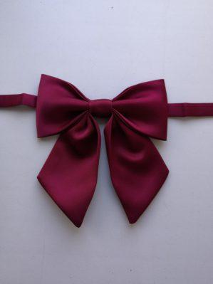 Галстук-бант бордовый, ткань атлас