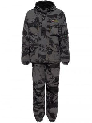 """Костюм """"Горка"""" Премиум класс, летний, кмф чёрный мультикам, армированная ткань, куртка+брюки"""