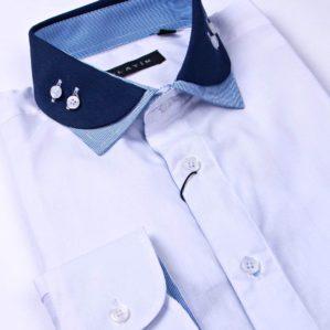 Рубашка школьная белая, длинный рукав, 80% х/б, 20% п/э