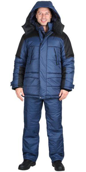 """Куртка рабочая """"Метеор"""" синяя с чёрным"""