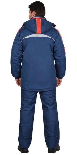 """Куртка рабочая """"Сургут"""", синяя с красным"""