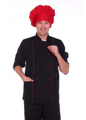 Костюм повара унисекс чёрный, китель+брюки