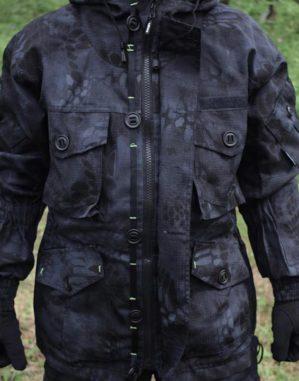 """Костюм """"Горка Питон чёрный"""", зима, Премиум класс, куртка+брюки, термофин+термофольга, армированная ткань,"""