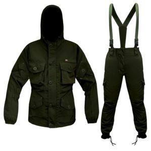 """Костюм """"Горка-Кордон темный"""", арт. 5516, Премиум класс, куртка+брюки, цвет тёмная олива, армированная ткань+термофин+термофольга, зима"""