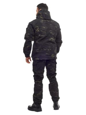 """Костюм """"Горка Капрал тёмный"""", арт.5531, Премиум класс, армированная ткань, термофин+термофлис, зима"""