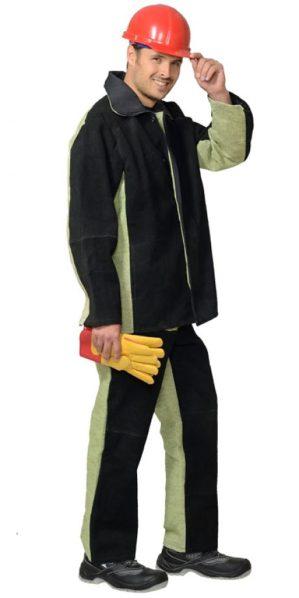 Костюм сварщика брезентовый со спилком