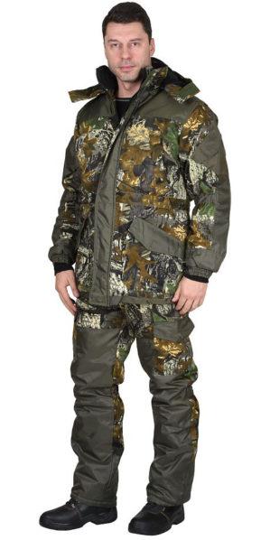 "Костюм ""Горка Тёмный лес"" кмф, арт. 5621, куртка+брюки, зима"