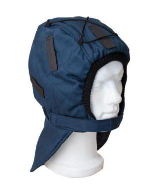 Подшлемник утеплённый синий, тк. смесовая
