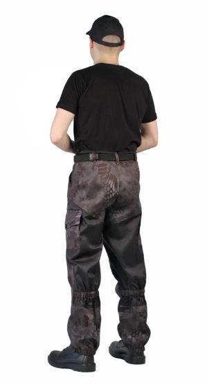 """Костюм """"Горка Питон чёрный"""" кмф, арт.5630, куртка+брюки, ткань грета"""