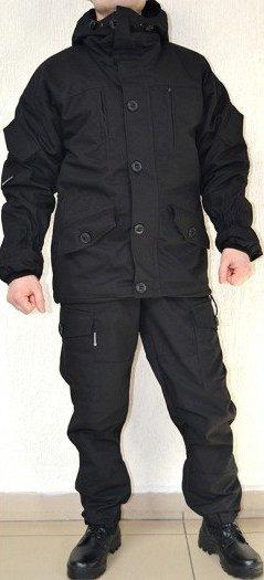 """Костюм """"Горка НЭРО"""" чёрный, зима, куртка+брюки, армированная ткань, термофин+термофлис"""