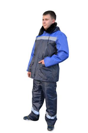 """Костюм рабочий """"Умелец"""", синий с васильковым, куртка+брюки"""