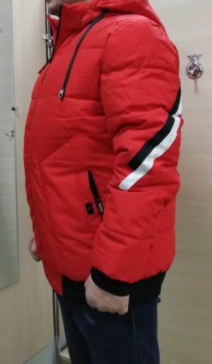 Куртка красная зимняя арт. 5539
