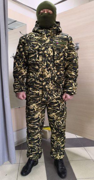"""Костюм """"Горка"""", арт. 5581, Премиум класс, куртка+брюки, кмф, цвет бежево-зелёный, армированная ткань+термофин+термофольга, зима"""
