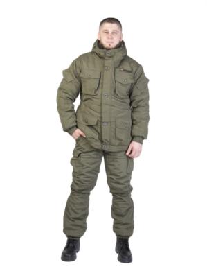 """Костюм """"Горка Светлая олива"""", Премиум класс, зима, куртка+брюки, армированная ткань+термофин+термофольга"""