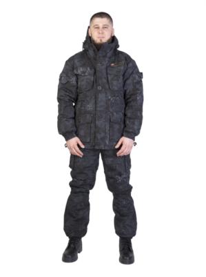 """Костюм арт.5611 """"Горка Питон чёрный"""", зима, Премиум класс, куртка+брюки, термофин+термофольга, армированная ткань, зима"""
