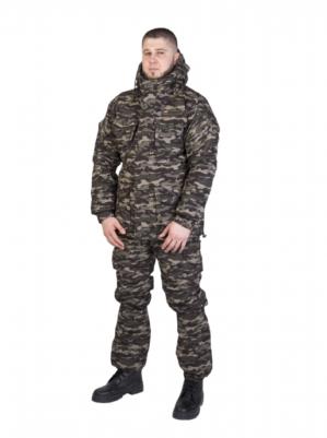 """Костюм """"Горка"""", арт. 5579, Премиум класс, куртка+брюки, кмф, цвет блекло-зелёный, армированная ткань+термофин+термофольга, зима"""