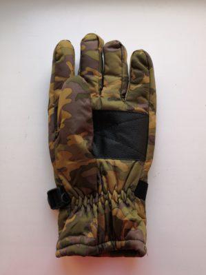 Перчатки утеплённые КМФ зелёные на флисе, тк. оксфорд