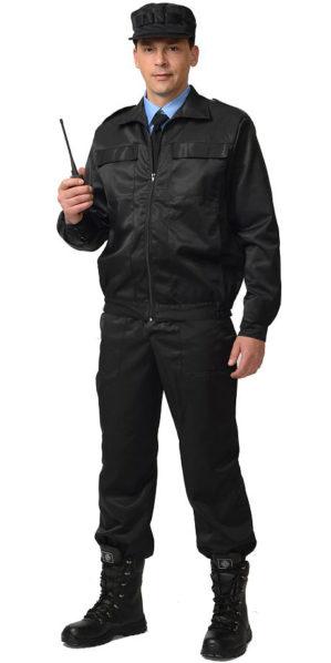 """Костюм """"Охранник"""" чёрный, куртка+брюки"""