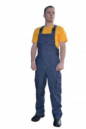 Полукомбинезон рабочий джинсовый синий