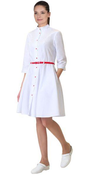 Медицинский женский халат белый