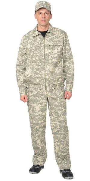Костюм для охоты и рыбалки, куртка, брюки, КМФ Пустыня, тк. Рип-стоп