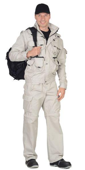 """Костюм """"Мангуст"""" куртка+брюки, молочный"""