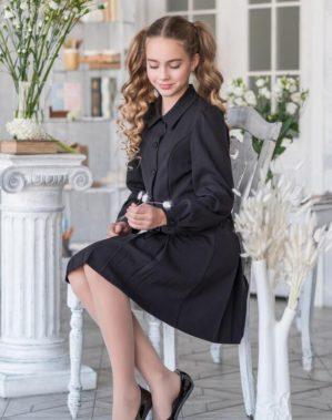 """Платье школьное """"Альфа"""" чёрное"""