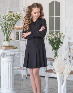 """Платье """"Виола"""" школьное чёрное"""